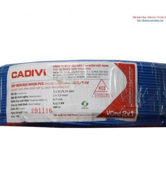 DÂY ĐIỆN CADIVI VCmd 2x1.5-0,6/1kv ( Dây đôi)
