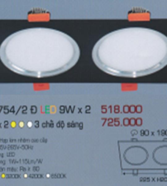 AFC 754/2 Đ LED 9W X 2 ANFACO