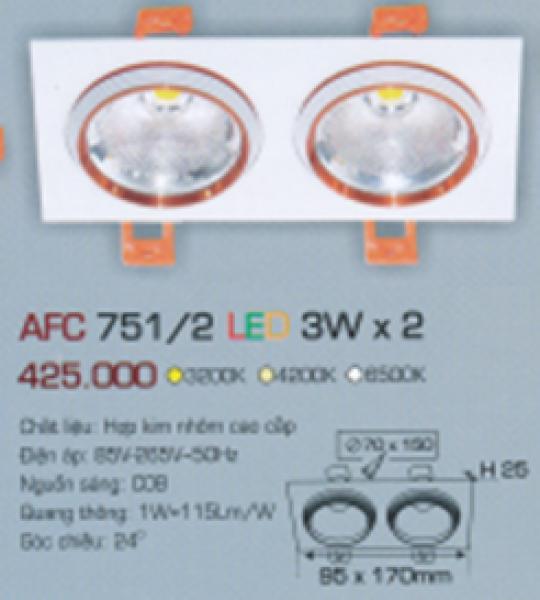AFC 751/2 LED 3W X 2 ANFACO