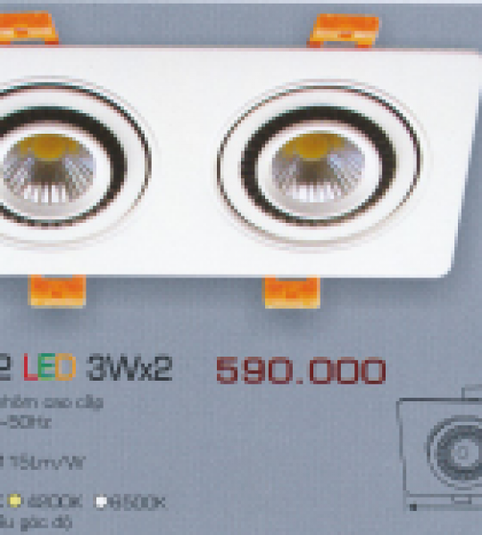AFC 756/2 LED 3W X 2 ANFACO