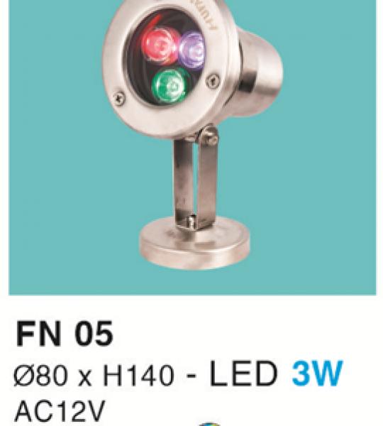 ĐÈN LED DƯỚI NƯỚC 3W RGB HF