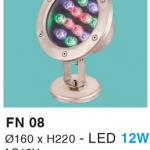 ĐÈN LED DƯỚI NƯỚC 12W RGB HF
