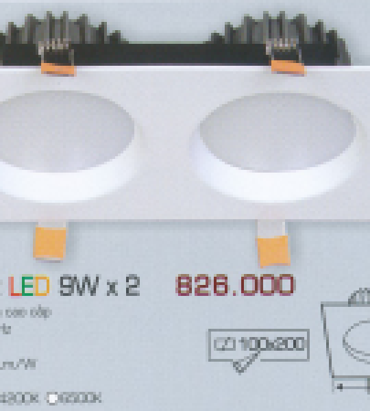 AFC 757T/2 LED 9W X 2 ANFACO