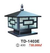 ĐÈN TRỤ CỔNG THÉP ĐẾ 40CM ( có size 20cm-40cm)