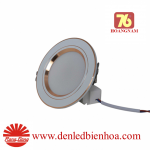 Đèn LED Âm trần 3 Chế Độ 7W Viền Vàng Rạng Đông