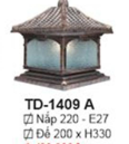 ĐÈN TRỤ CỔNG NHÔM ĐÚC ĐẾ 20CM ( có size 20cm-38cm)