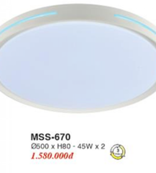ĐÈN ỐP NHỰA LED PHI 500 3 CHẾ ĐỘ EUROTO