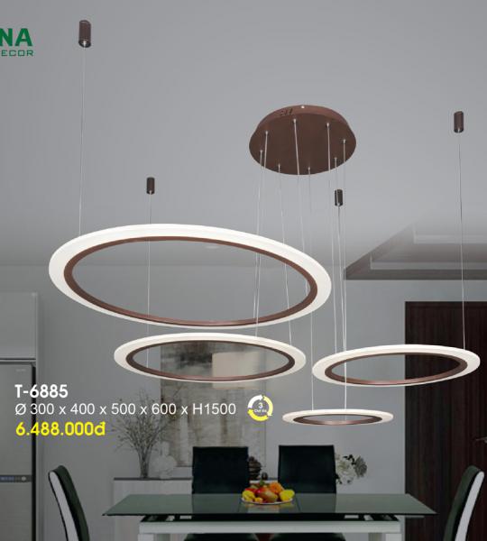 ĐÈN THẢ LED ACRYLIC TRANG TRÍ T6885 VERONA